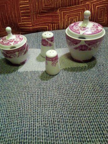 Посуда ГДР набор для специй и набор чашек