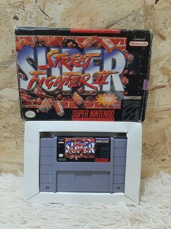 Jogo snes super street fighter II em caixa original com insert