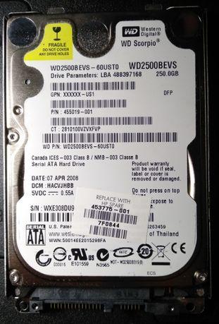 Жесткий диск для ноутбука IDE 250 Gb