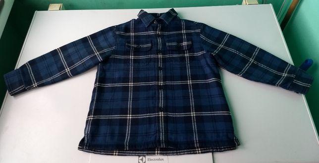 Теплая рубашка L.L.Bean 6 лет состояние новой