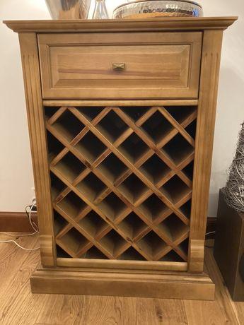 Szafka, półka regał na wino, drewno brzoza
