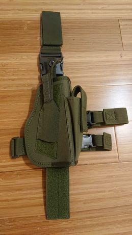 Kabura udowa z cordury dla pistoletu compact