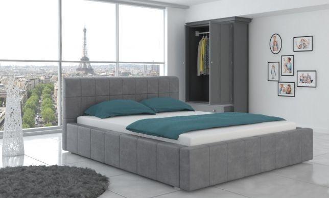 Łóżko tapicerowane sypialniane 160 Pojemnik + stelaż Duży Wybór