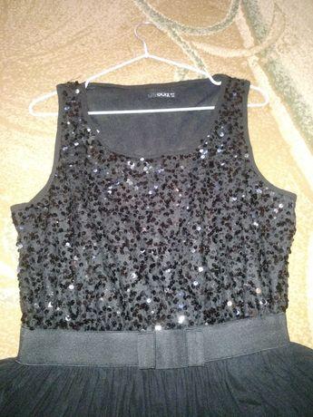 Шикарное нарядное платье с пайетками