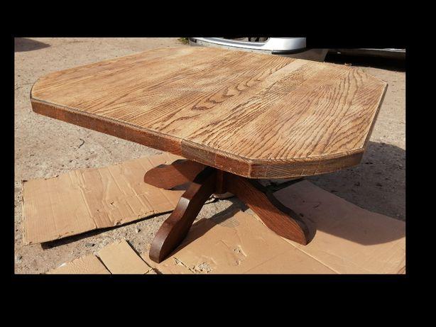 Stół Stolik dębowy gruby blat antyk do renowacji. Okazja
