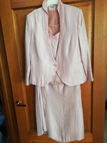 Komplet wizytowy 3 częściowy - spódnica, bluzka, marynarka rozm.44