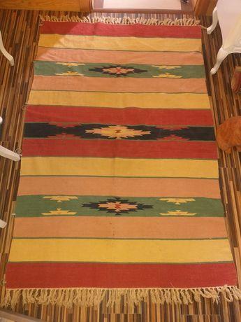 Stary kilim ręcznie robiony Ameryka Południowa