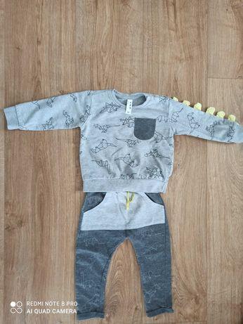 Zestaw komplet dresy chłopięce firmy 5 10 15 rozmiar 86