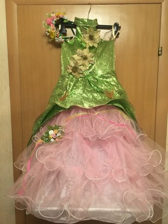 карнавальное платье весна веснянка костюм лето цветочная фея