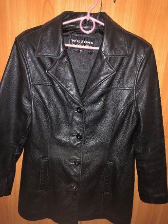 Женская длинная кожаная куртка Wilson размер L