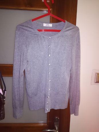 Sweterek na guziki, szary, M