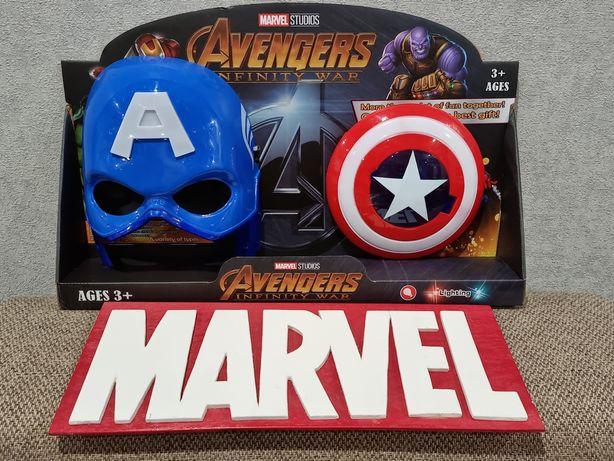 Подарочный набор Капитан Америка маска+щит.