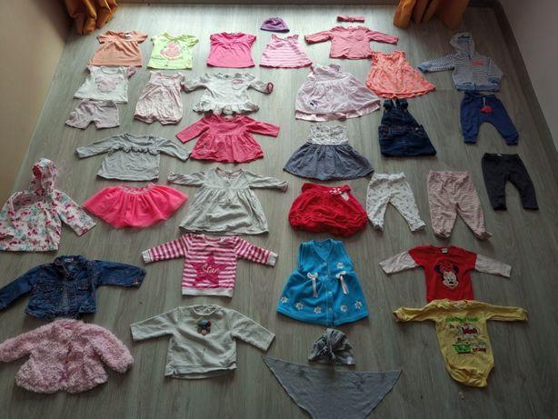 Paczka ubrań dla dziewczynki rozmiar 74 Next, Cool Club, H&M, Disney