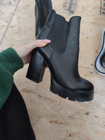 Осенние ботинки кожзам