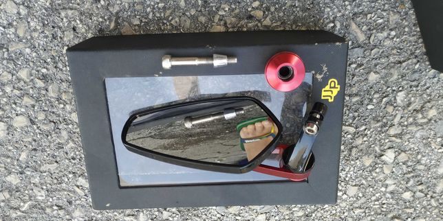 Espelho retrovisor de punho para mota