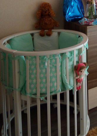 Кроватка, круглая кроватка,  овальная кроватка, детская кроватка
