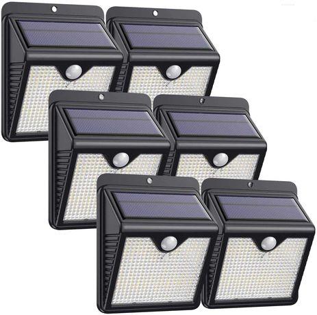 Luz solar exterior 150 LED 180° sensor de movimento (6uni)