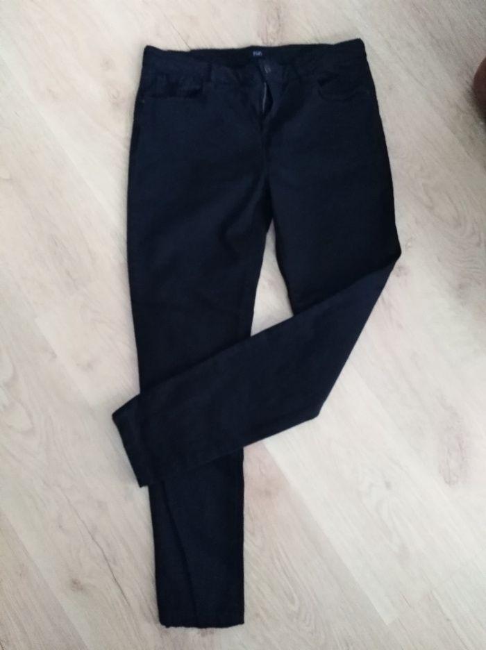 spodnie jeansy czarne r 42, F&F Ruda Śląska - image 1