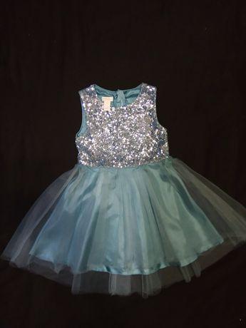 Нарядное платье Monsoon детское девочке 4-5 лет пайетки юбка фатин
