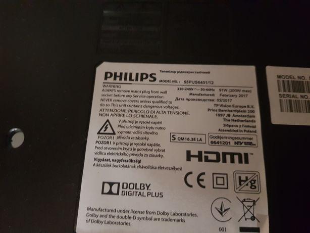 Philips 55PUS6401 zasilacz, t-con