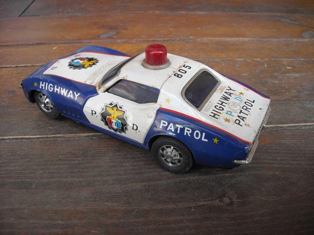 Brinquedo carro policia antigo made in Japan