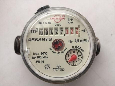 счетчик горячей воды metron / поверен до 22 дек 22 года