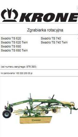 Instrukcja obsługi zgrabiarka KRONE swadro TS 620 - TS 740 Twin PL