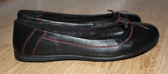 Мокасины туфли кожаные (натуральная) женские 37,5 размер 24,5 см
