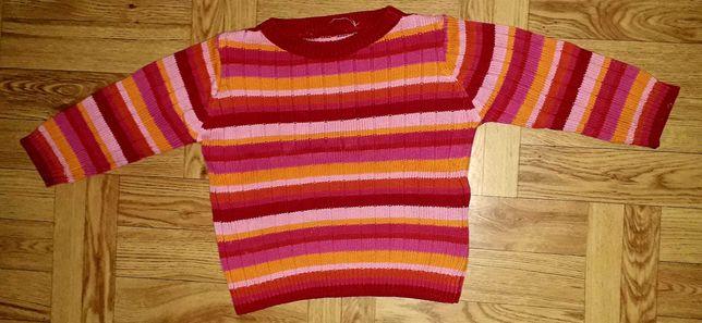 Sweter kolorowy bawełniany w paski