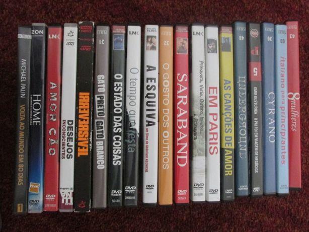 DVDs originais (Filmes, Animação, Concertos)