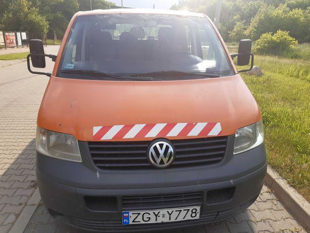 VW T5 1.9TDI 105KM, 2005r, Doka 6 osób. VAT 4