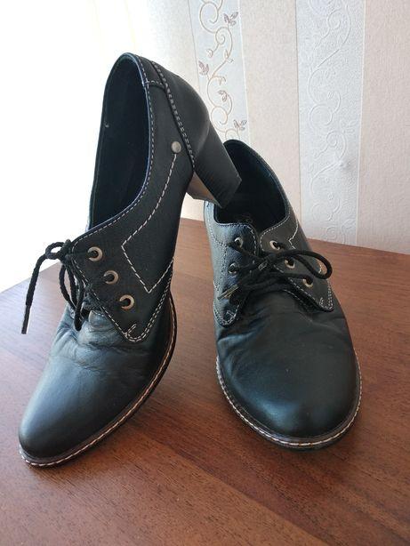 Туфли из натуральной кожи. Размер 38