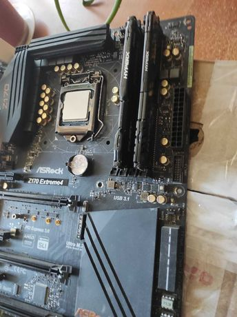 Процессор I7 6700k + память 16gb + Материнская плата z170 extreme4