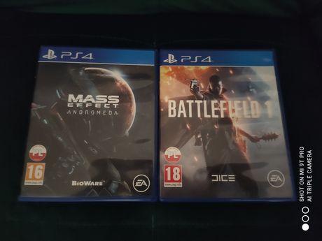 Battlefield 1 i Mass Effect Andromeda PS4