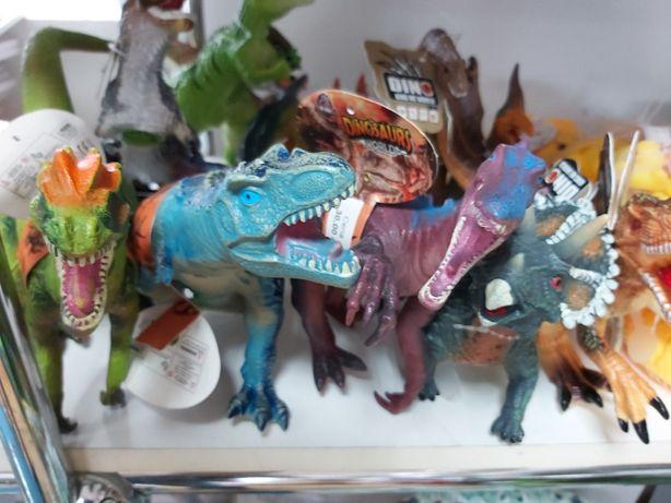Nowy duży edukacyjny gumowy dinozaur z dźwiękiem ,różne rodzaje