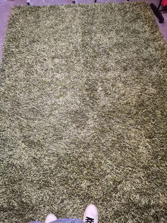 Carpete/tapete de sala de pêlo grande cor verde clara