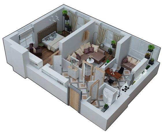2-комнатная квартира 60,3 м2 от застройщика, клубный дом Марсель
