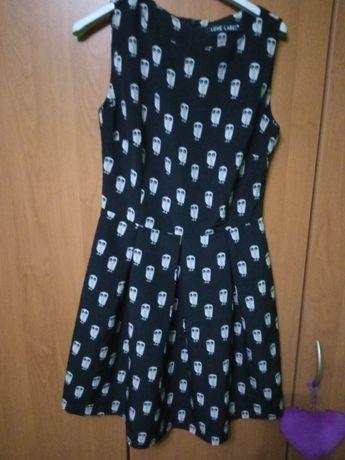 Sukienka sowy czarna  uk8