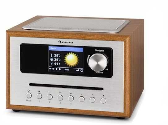 Radio nestor 2 tryby pracy kolorowy duży wyświetlacz