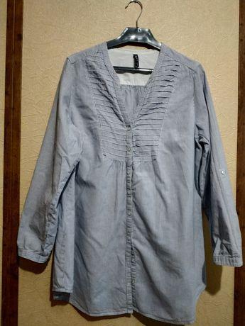 Рубашка в полоску XLNT. Размер 44/46. 100% хлопок