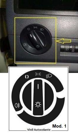 Vinil Autocolante p/ Reparar Comutador Luz VW Golf