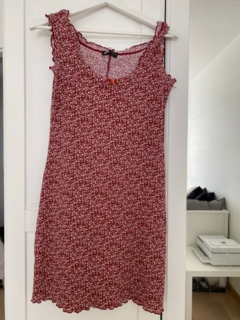 Sukienka na ramiączkach w kwiaty czerwona, orsay M/L damska
