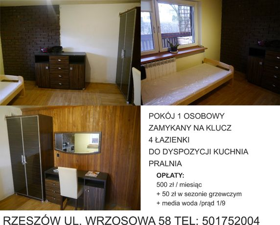 Do wynajęcia od zaraz duży pokój jednoosobowy 25 m2 z balkonem