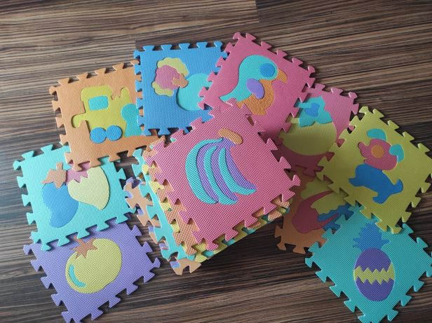 Puzzle piankowe mata różne kształty 30 szt