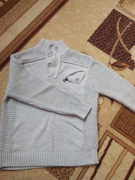 Sweter ciepły szary grubszy xxl.meski