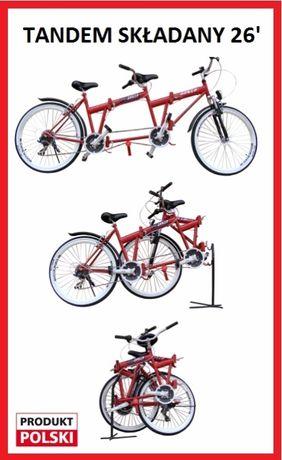 Rower tandem składany koła 26' nowy Składak z przerzutkami