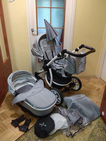 Wózek dziecięcy Bebetto Silvia 2w1 szary