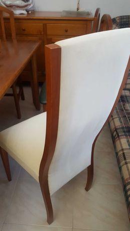6 cadeiras sala jantar madeira Cerejeira