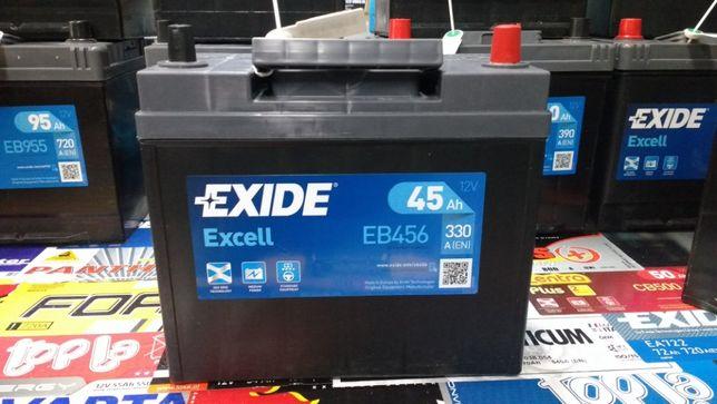 Akumulator Exide Excell EB456 12V 45Ah 330A P+ Kraków Dowóz CB456
