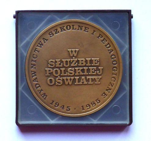 medal pamiątkowy prl w służbie polskiej oświaty brąz